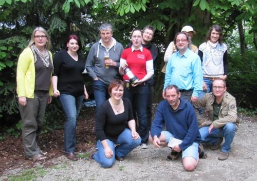Team vor dem Café Röhren