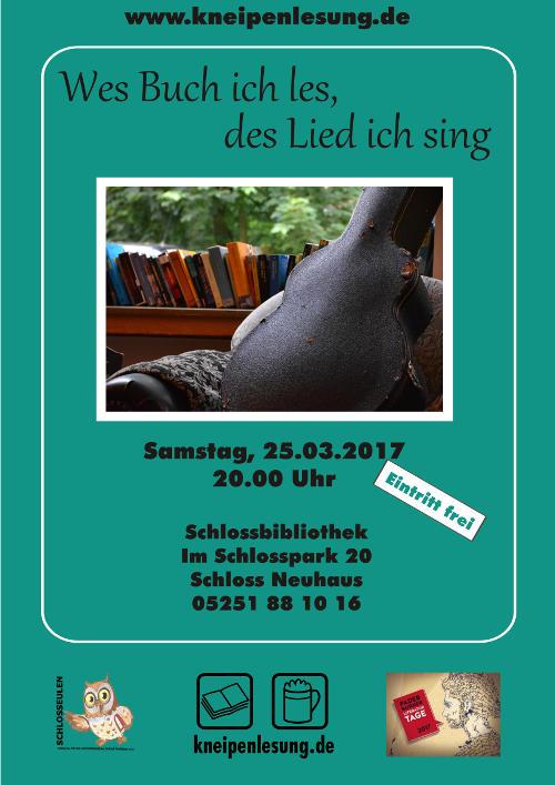 Plakat Buch Lesung